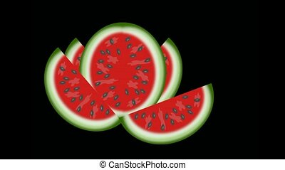 watermelon - Watermelon slices with the seeds