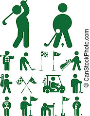 set of golf icon vector illustration isolated on white...