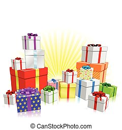 Many gifts concept