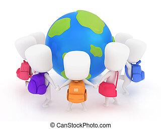 地球, 幼稚園