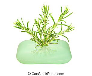 Soap with rosemary