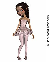 Wonderful toon ballerina - 3d render of a wonderful toon...