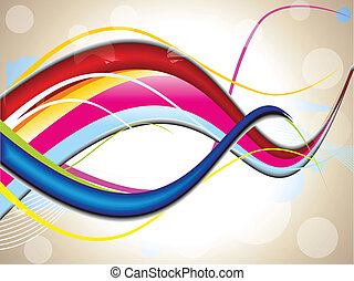 abstract background wave vector illustration