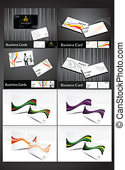 abstract multiple business cards
