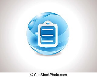abstract glossy blue list icon