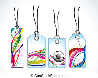 abstract colorful tags