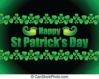 abstract st patrick day  -  vector illustration