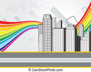 abstract colorful city background