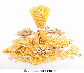 isolated assortment of pasta