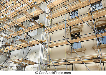 under construction - refurbishment of building with erecting...