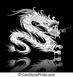 White Chinese dragon