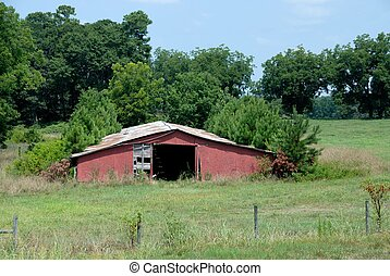 Abandoned Chicken Coup - old abandoned chicken coup at rural...