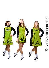 Irish dancers - St. Patrick's Day irish girls in green