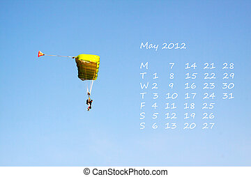 Calendar 2012 May - Page of calendar of 2012, month of May,...