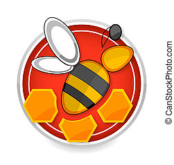 nature and medic bee symbol yellow color