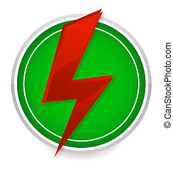 power energy symbol red and green color