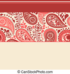 Elegant paisley background