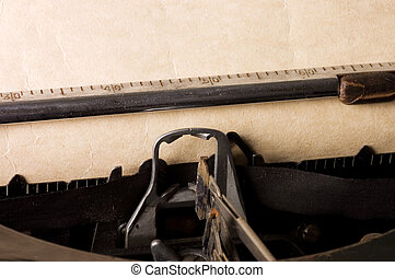 Old typewriter detail closeup - Typewriter , place for your...
