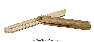 wooden tool for measuring angles
