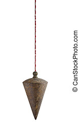 plumb bob on white background - used plumb bob on white...