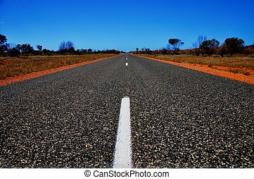 Centre Line - Centre line of the Stuart Highway in Northern...