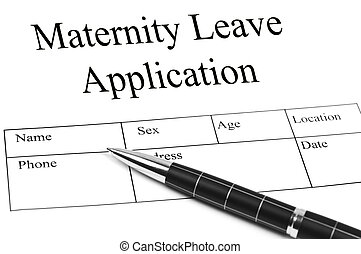 Maternity Leave Application and an pen