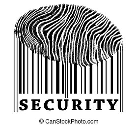 Security on barcode with fingerprint