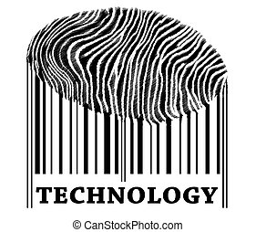 Technology on barcode with fingerprint