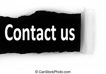 Contact us under paper - Contact us word discovered under...