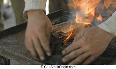 Adding black coal to fire done from - 4 IN 1 EDIT Blacksmith...