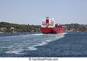 Cargo ship on the Bosphorus, Istanbul