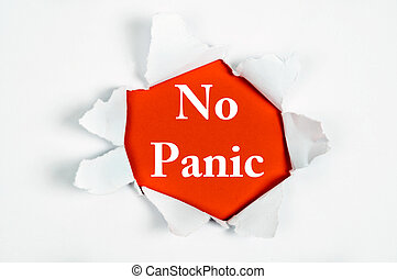 No panic under paper - No panic word discovered under paper