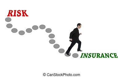 Road to Insurance for man in suit