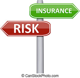 Risk and insurance on road sign