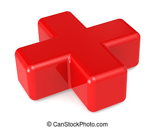 Red Cross - A red Cross Symbol Isolated