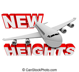 New Heights - Airplane Cimbs Higher to Reach Goal