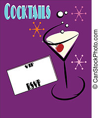 rsvp for martinis - invite to have martinis with rsvp and...