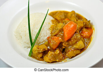 Chinese food - Chicken, carrots and rice