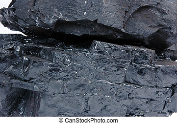 detailed texture of the coal