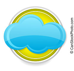 weather cloud sign  blue color isolated