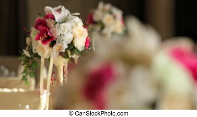 Beautiful flowers - Beautiful festive flowers are on the...