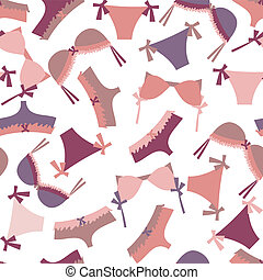 Seamless Lingerie Pattern in pink and violet