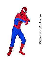 spider-Man - A man dressed as Spiderman. Clown Artist.