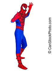 spider-Man - A man dressed as Spiderman Clown Artist