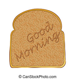 Slice of toast morning - Morning toasted bread concept with...