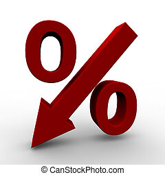 Falling Prices - Symbol can be used for hot deals with...
