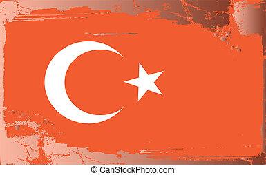 Grunge flag series-Turkey