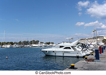 luxury yacht and boats
