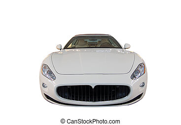 sports car  - Yellow sports car at the show