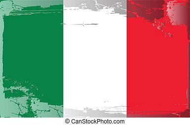 Grunge flag series-Italia, vector illustration